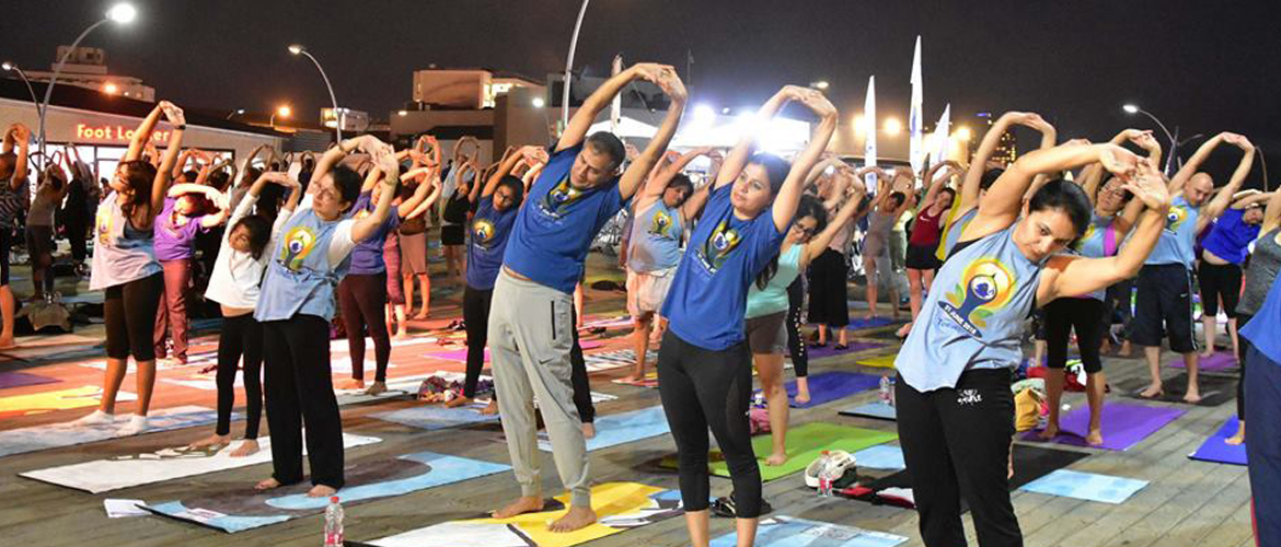 Celebtation of International Day of Yoga in Israel