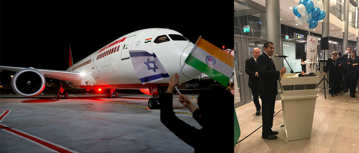 Air India resumed flights from India to Israel with the first ever Delhi-Tel Aviv flight landing at Ben Gurion airport on 22.3.2018